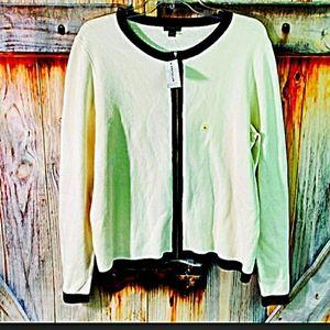 💟ANN TAYLOR XL long sleeve zip front jacket